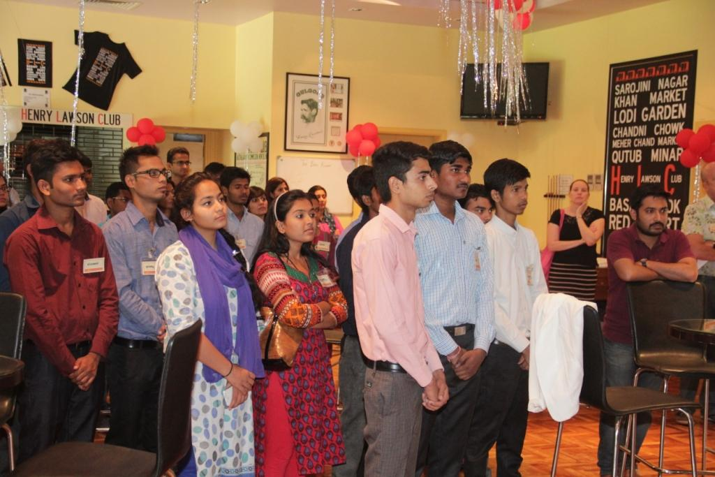 Students and company representatives at the event