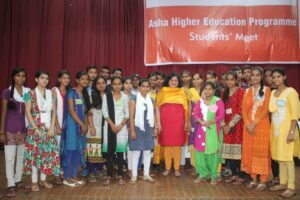Dr Kiran with Asha High School Toppers