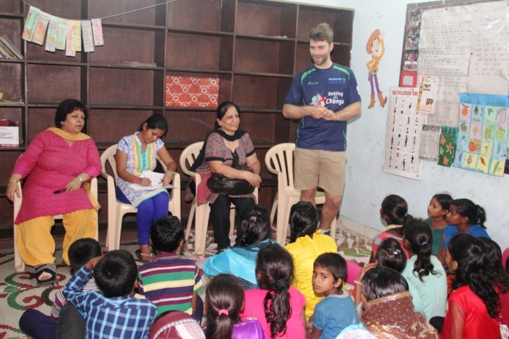 Ryan interacting with Children's Association members