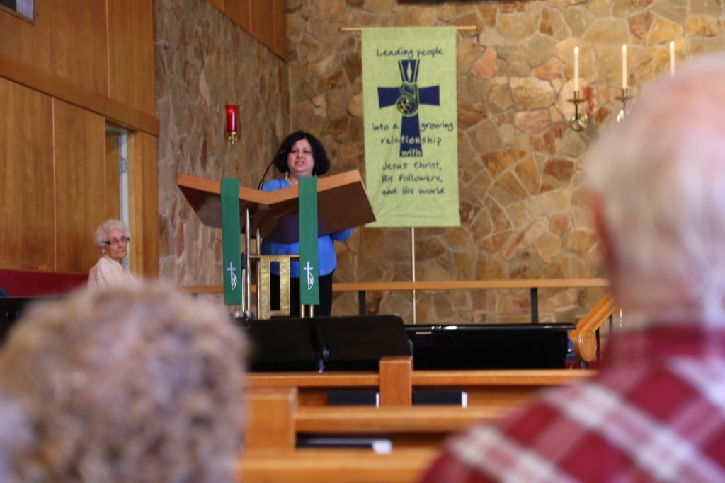 Dr Kiran addressing the gathering at the Church