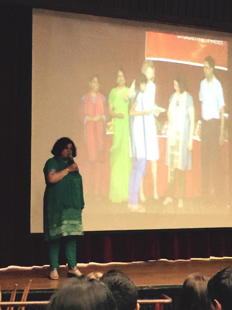 Dr Kiran addressing the students