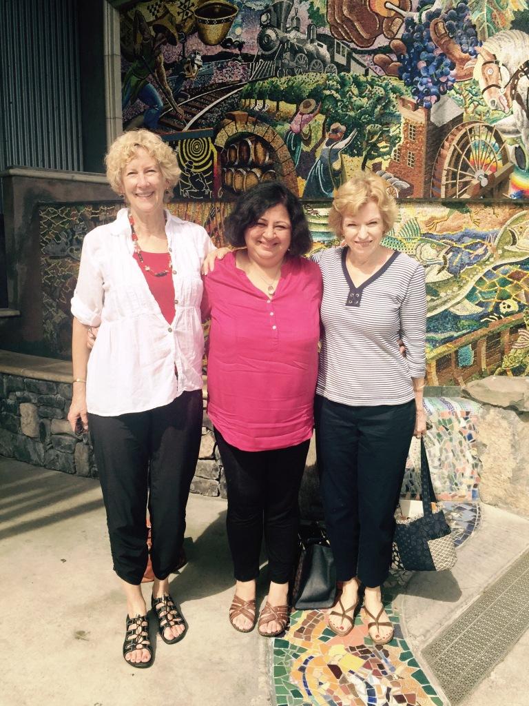 Dr Kiran with Lana and Sandy