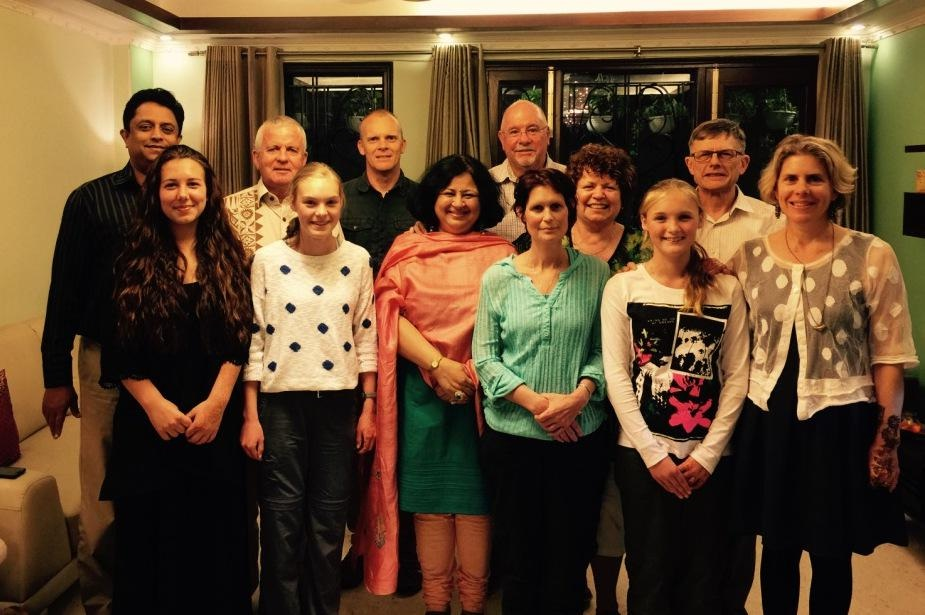 DrKiran was delighted to have the opportunity to invite the team over for a dinner at her residence.