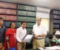 The Hon'ble Finance Minister Mr Arun Jaitley meets Asha students