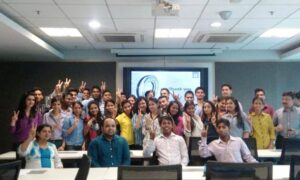 Asha students with the Macquarie team after the workshop