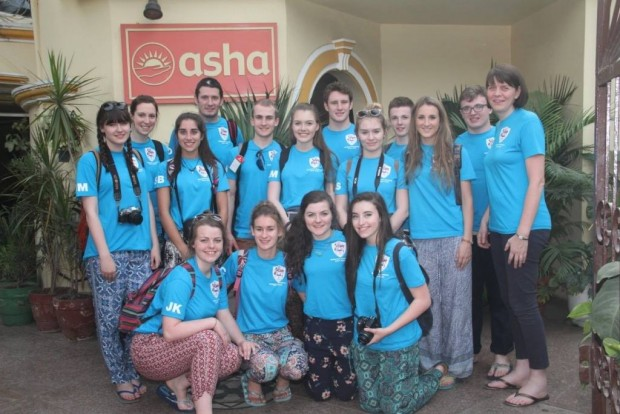 Ballymena Academy volunteers with Asha for the fifth year