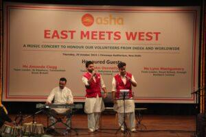 Asha students, Dilip and Ajay singing Qawali