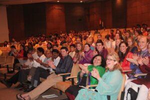 The audience enjoying the performances