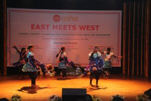 Contemporary dance by students from Seelampur slum colony