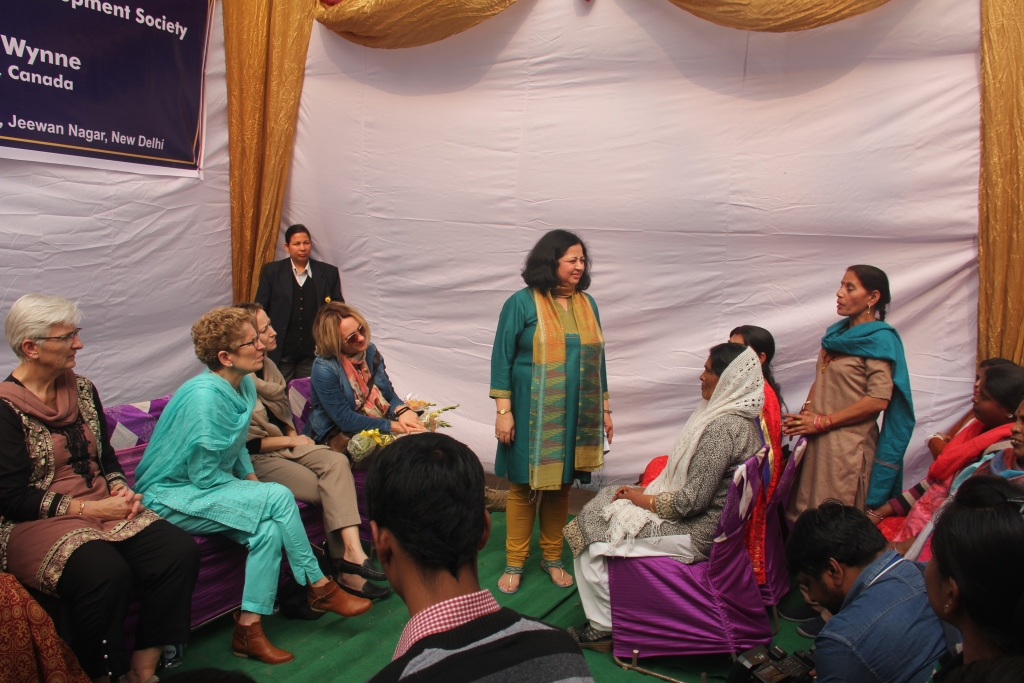 Community women talking about their challenges and struggles