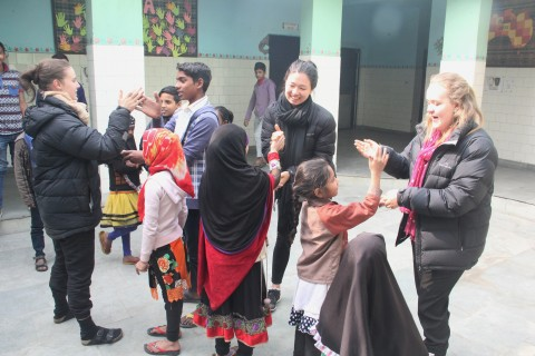 Team from Trinity College, University of Melbourne visit Asha