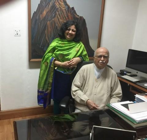 Dr Kiran's meeting with Mr LK Advani