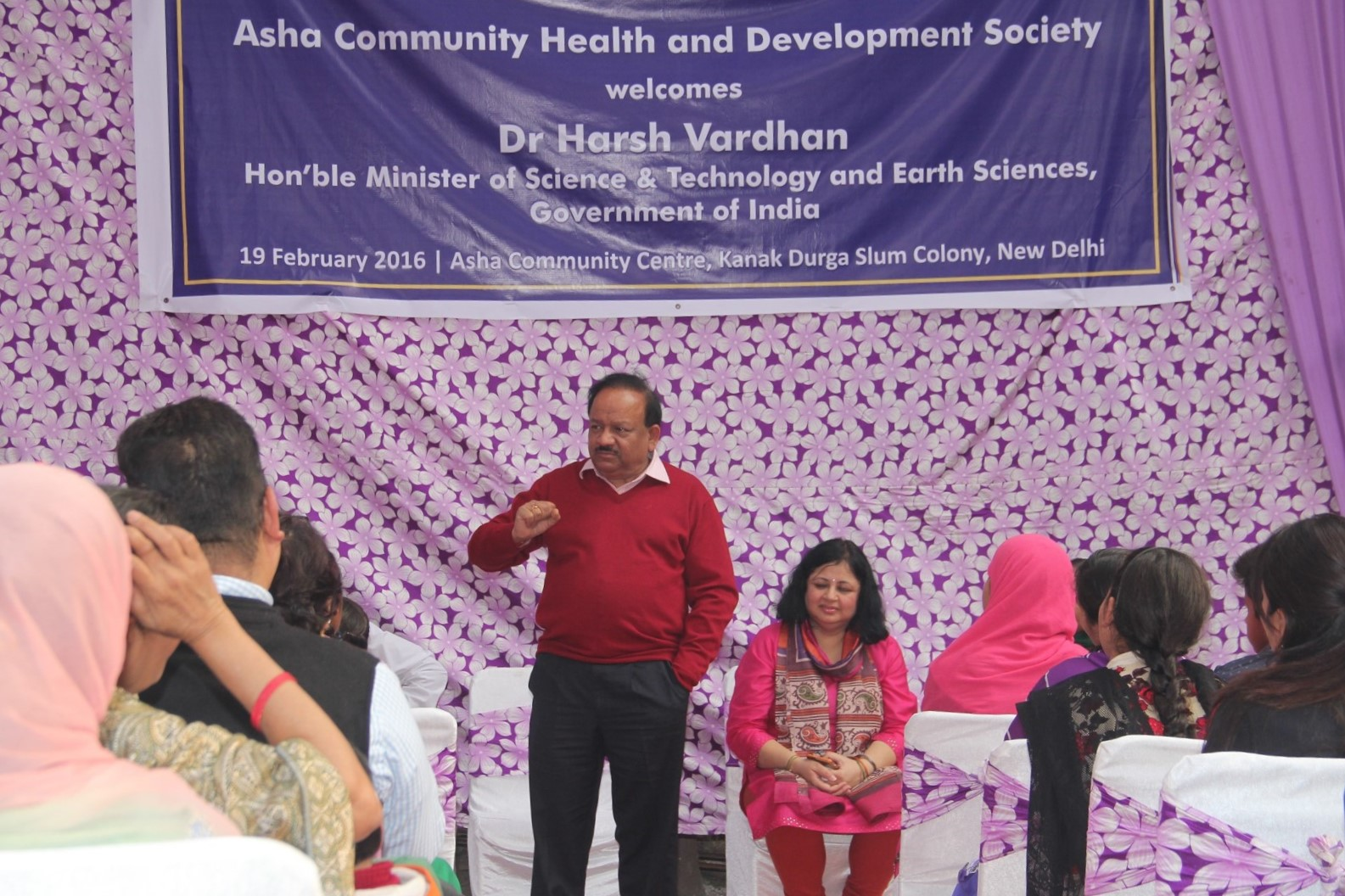 Dr Harsh Vardhan addressing the gathering