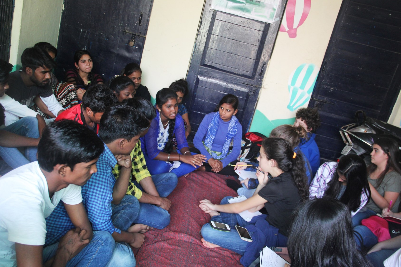 Asha College students sharing about their life in slums and how they cope with their studies