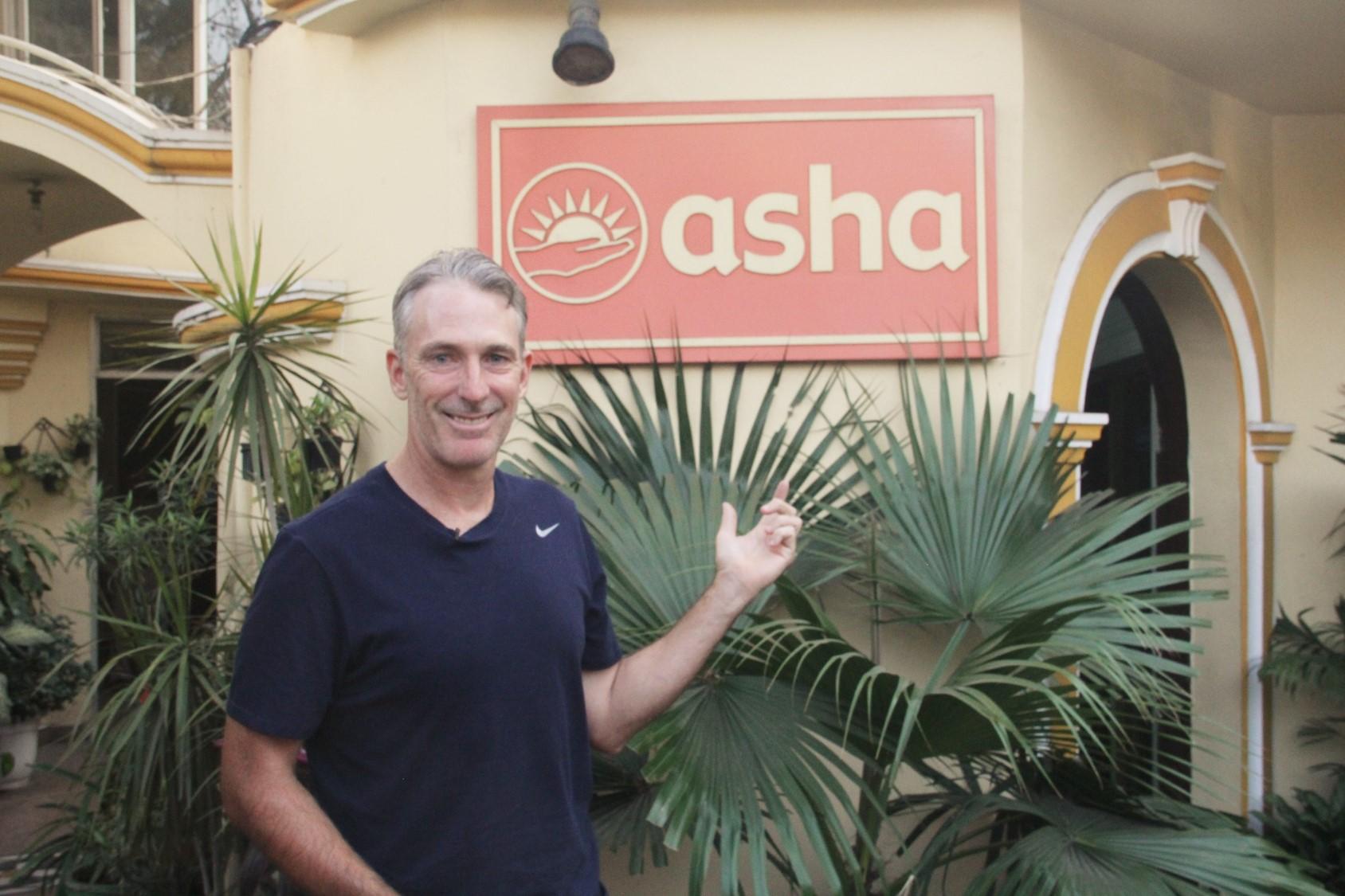 Damien Fleming at the Asha Headquarters