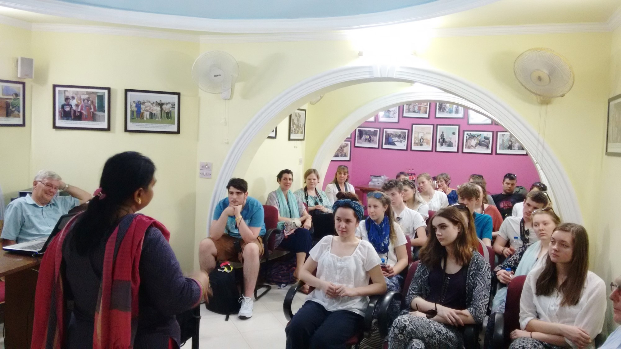 Before visiting the slum, the Asha team orienting the students about the work done at Delhi slums