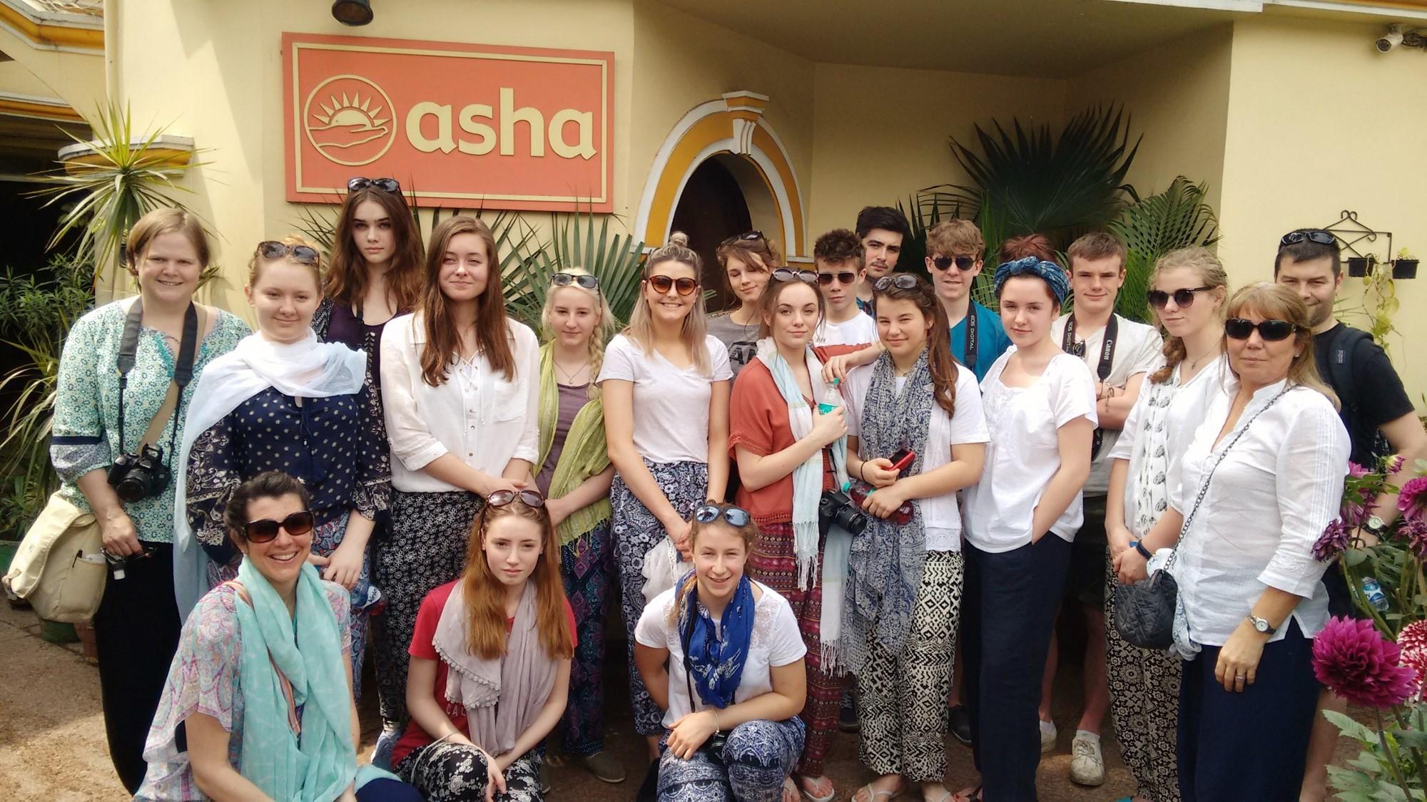 The Gryphon School team at Asha Society's headquarters
