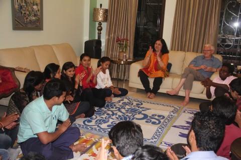 Student Ambassadors' meeting with Dr Kiran