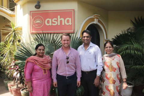 Founder of Cricket Live Foundation, Alex Reese visits Asha