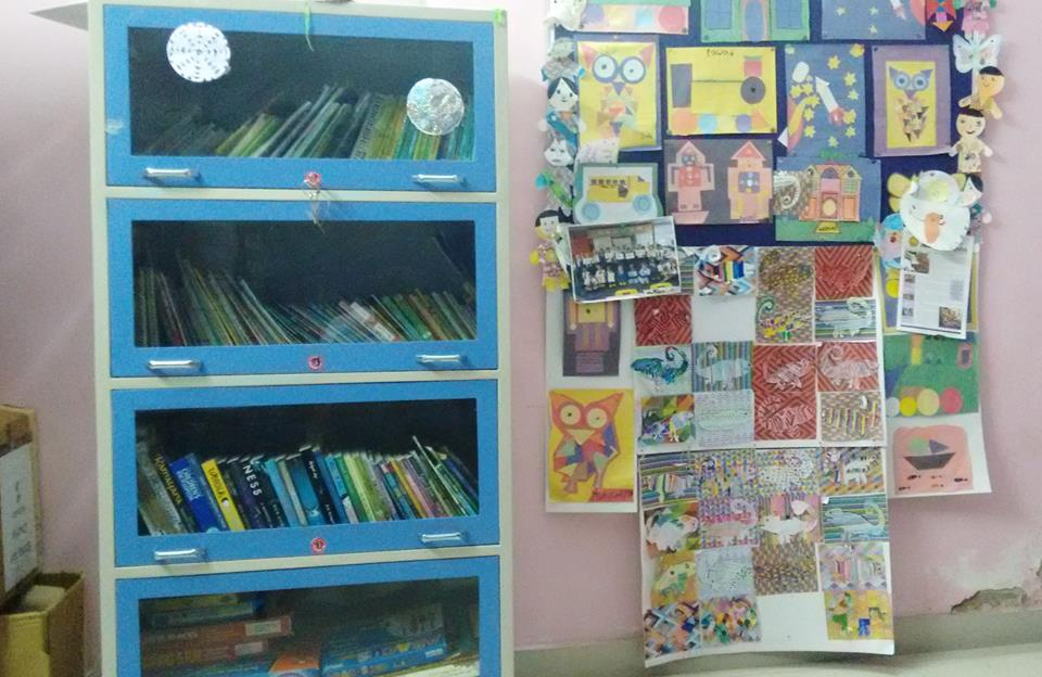 Newly inaugurated library at Ekta Vihar slum colony centre