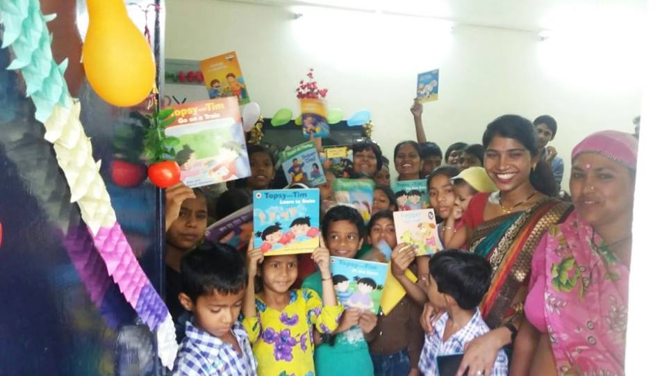 Enthusiastic students at Dr Ambedkar slum colony Centre