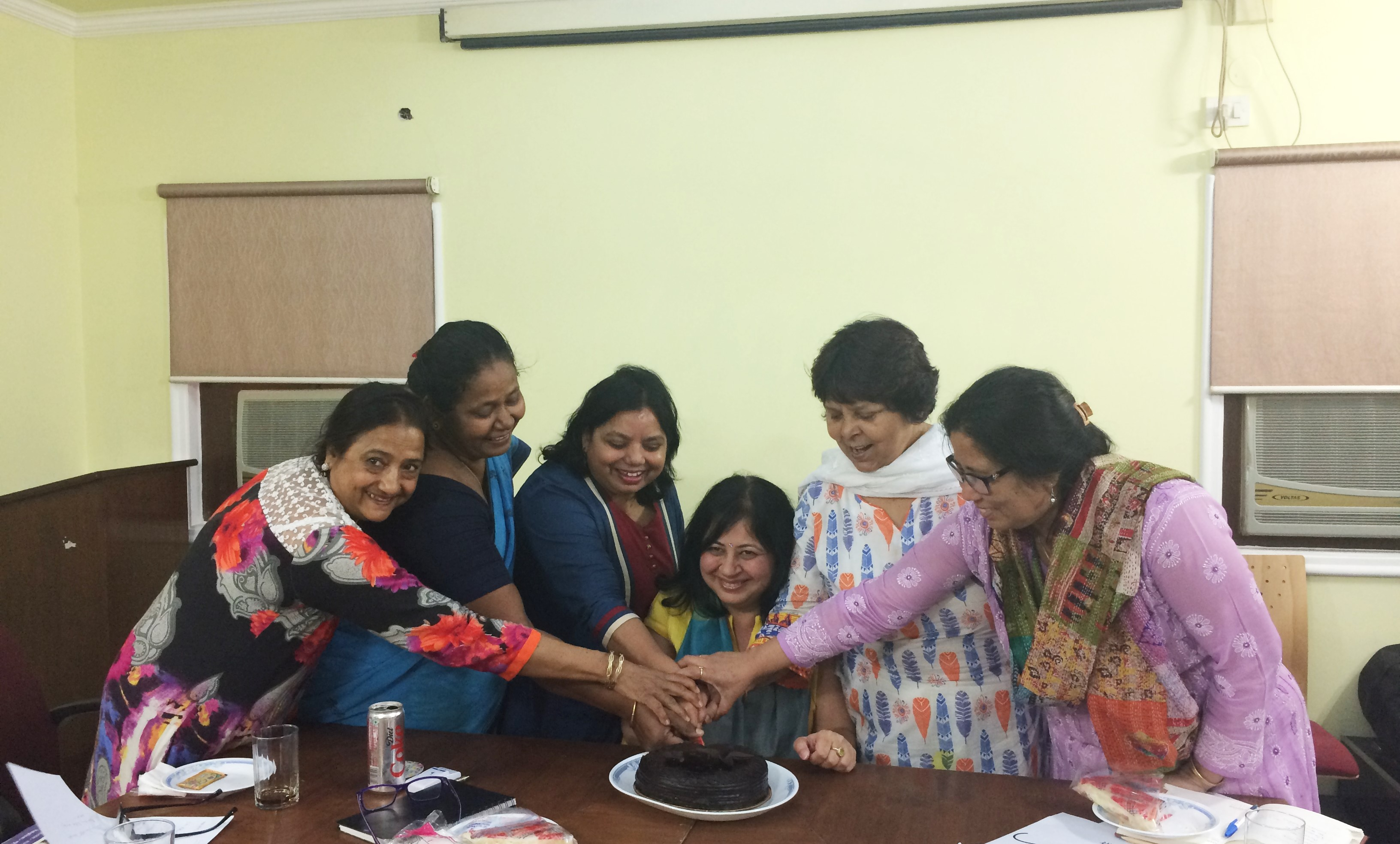 Dr Kiran and the Asha team celebrating the day