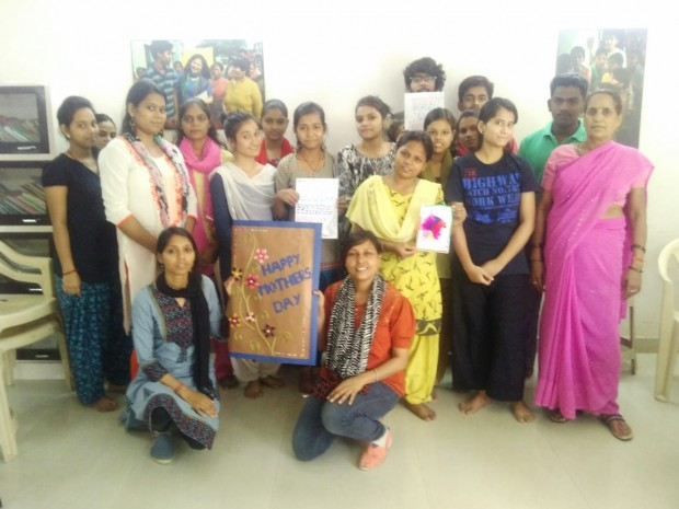 Mother's Day celebration at Asha slums