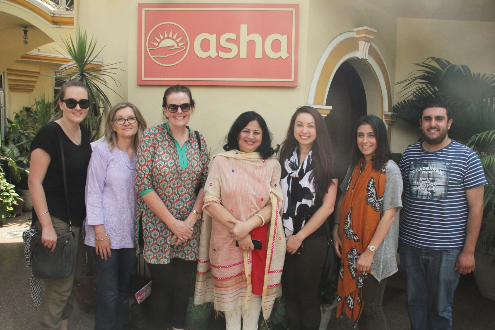 Dr Kiran with the Australian High Commission team