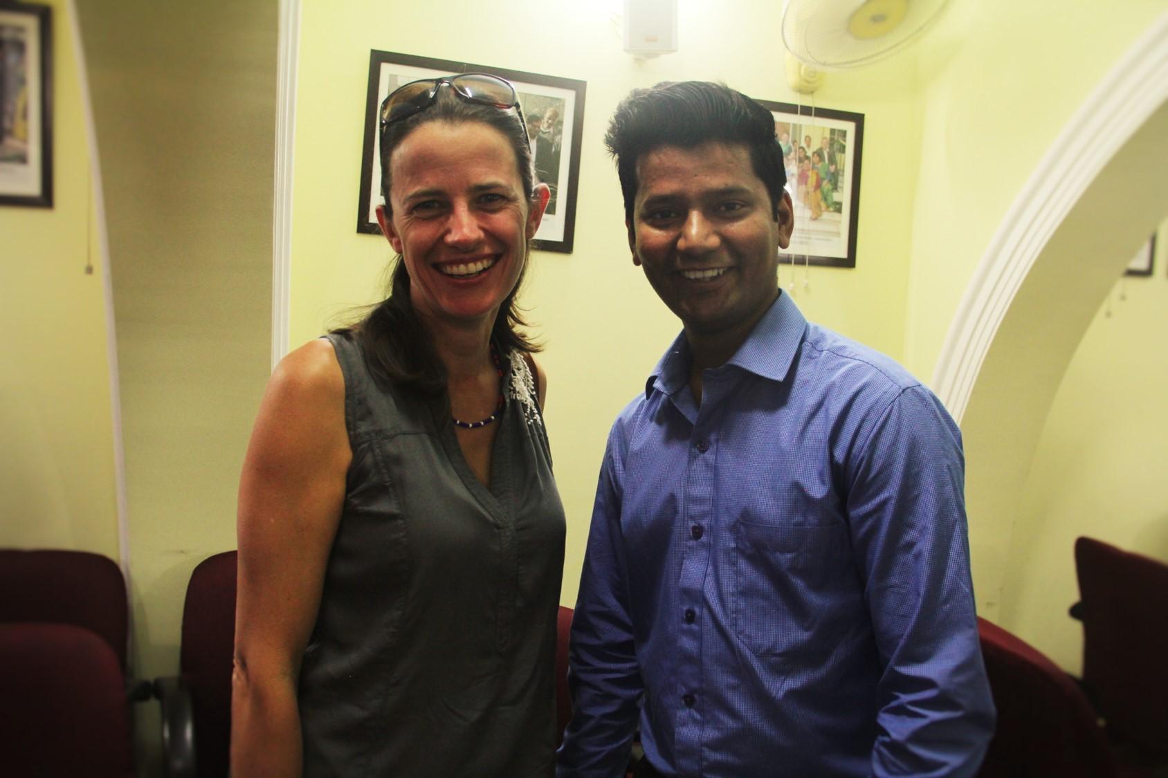 Asha student, Ved Prakash with his mentor Katheriene Ruiz-Avila