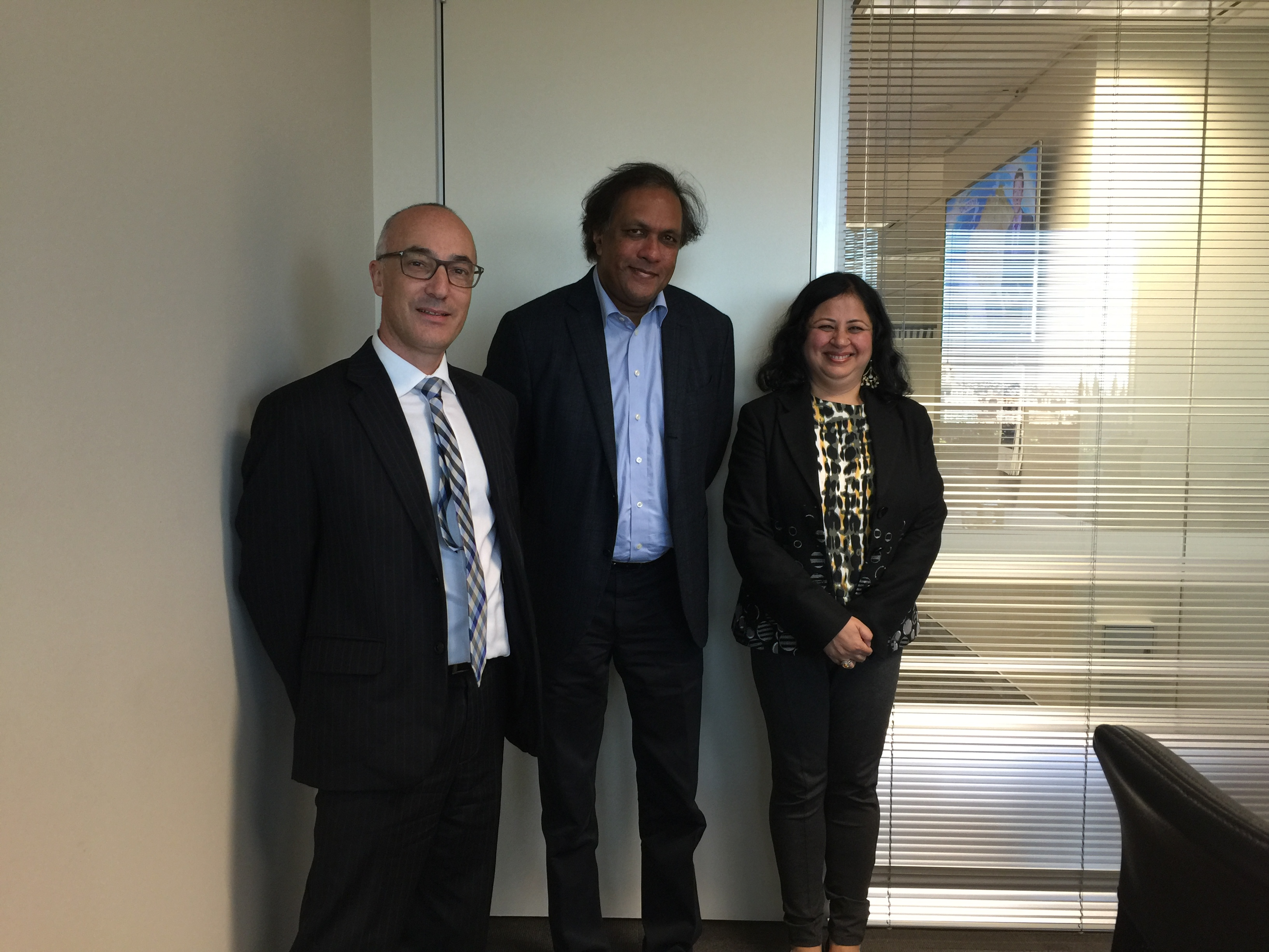 AFOA board member Richard Leder and Dr Kiran with Ashok Jacob, Chairman of Australia India Council