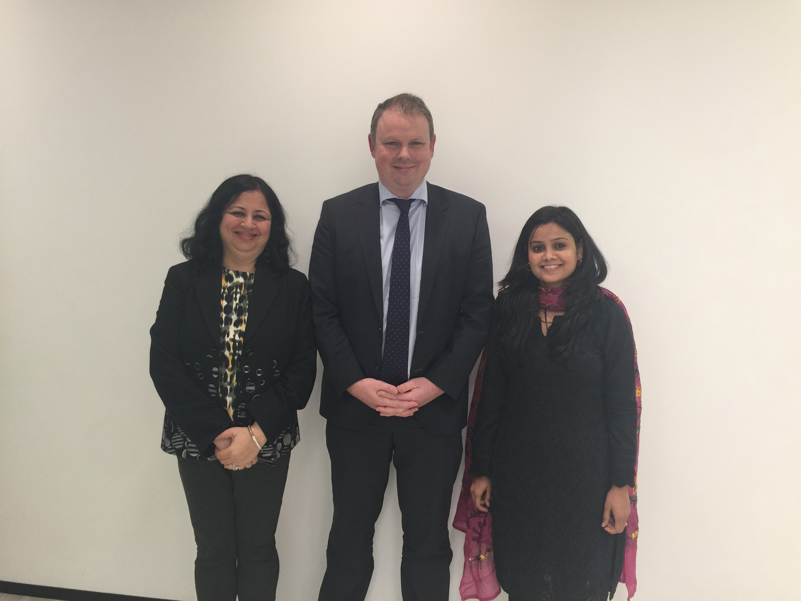 Usha and Dr Kiran with Nicholas Gray, CEO of Australia's National Newspaper - The Australian