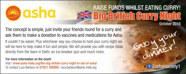 The Big British Curry Night October 2016