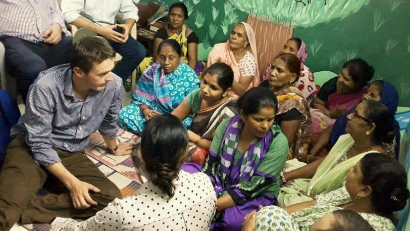 Team Nuffield listening to the stories of Asha Women's Association
