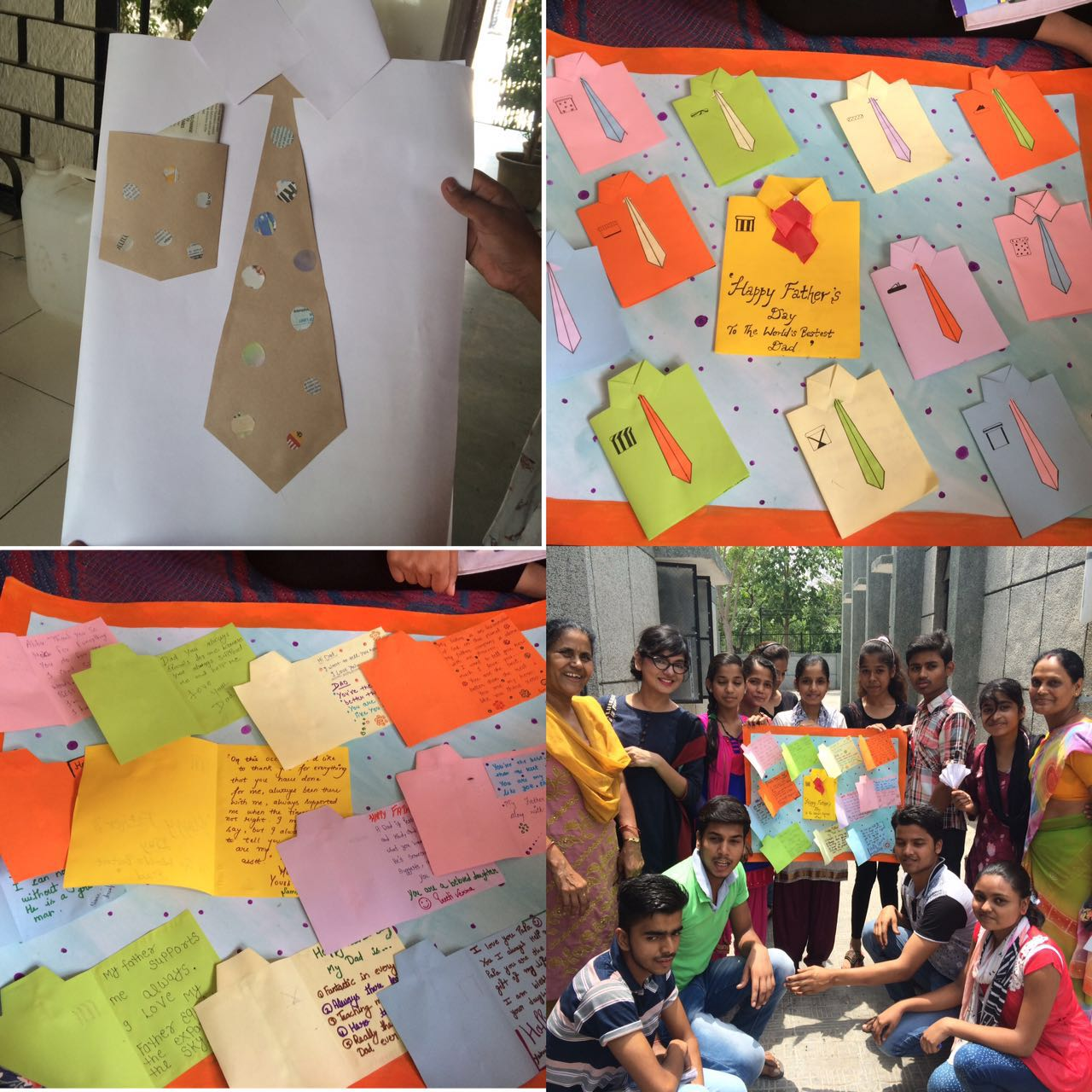 Asha's Children Association made some beautiful handicrafts with the help of Asha interns from Lady Irwin College for the occasion at Chanderpuri centre.