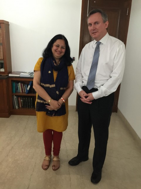 Dr. Kiran's meeting with Ambassador of Ireland HE Brian McElduff