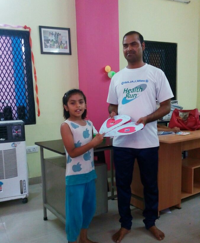 A father-daughter duo at Asha's Ekta Vihar centre