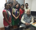 Wonderful interaction of Dr Kiran and Asha High School Toppers with Mr LK Advani