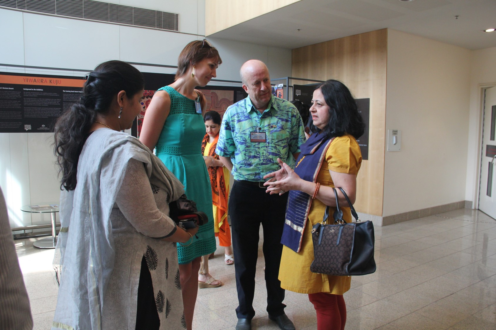 Dr Kiran interacting with long time Asha ambassadors from the New Zealand High Commission