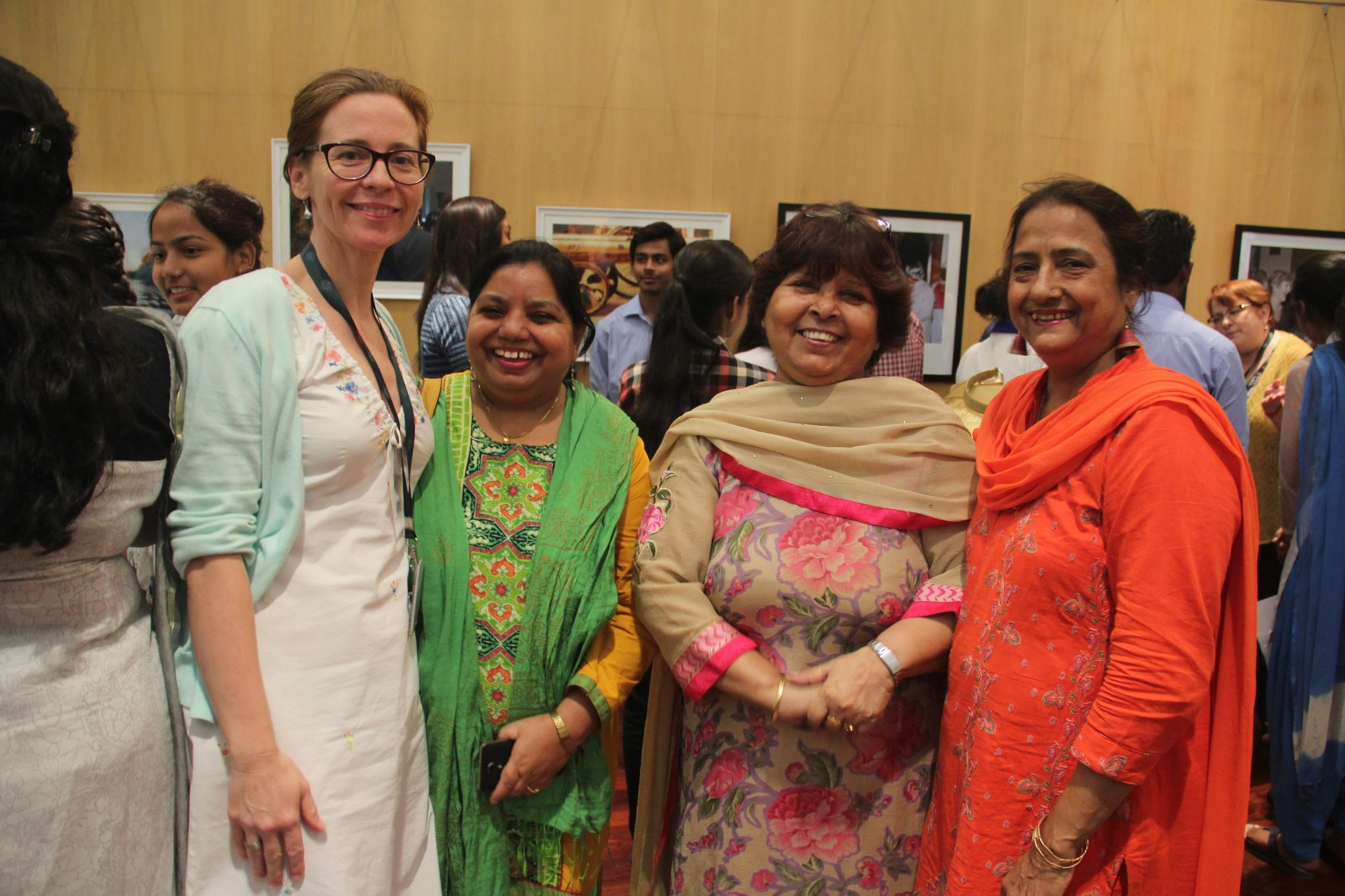 Asha's Supervisors with an official from the Australian High Commission