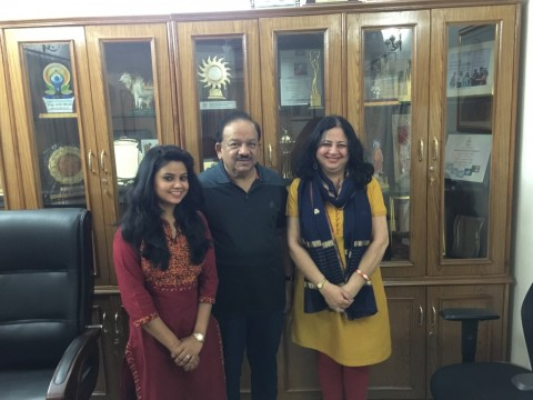 Dr Kiran's meeting with Dr Harshvardhan
