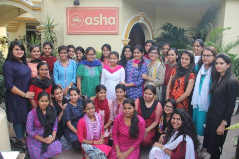 Interns from Lady Irwin College, Delhi University at Asha