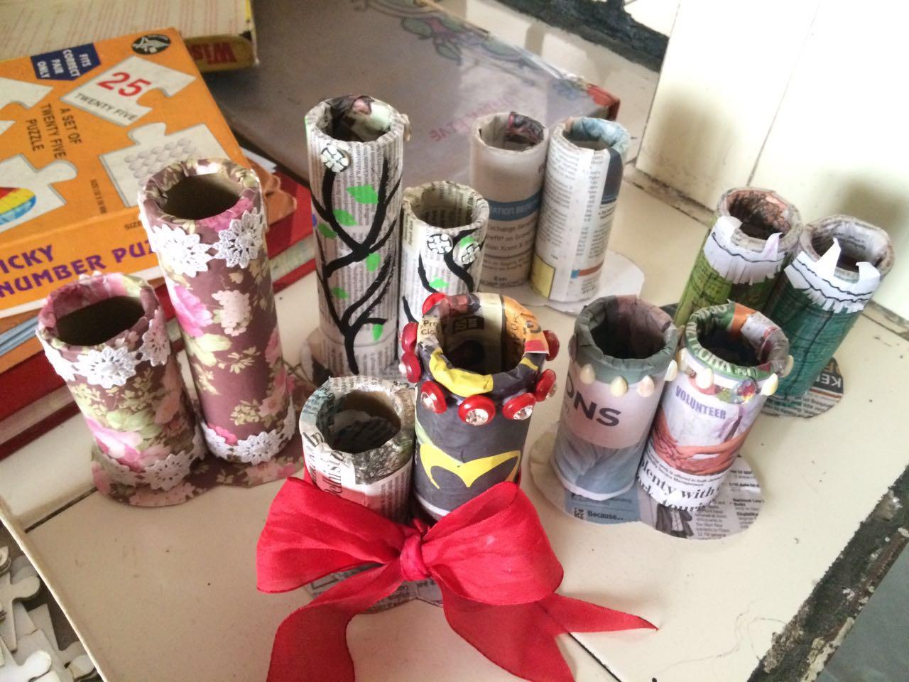 Handicrafts made by interns
