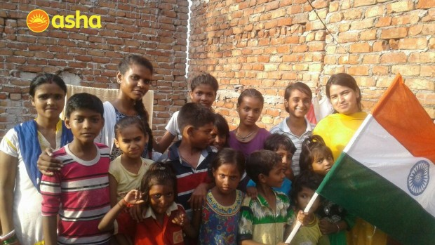 Independence Day Celebration at Asha Slum Communities