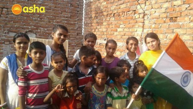 Independence Day Celebration at Asha Slum Communities
