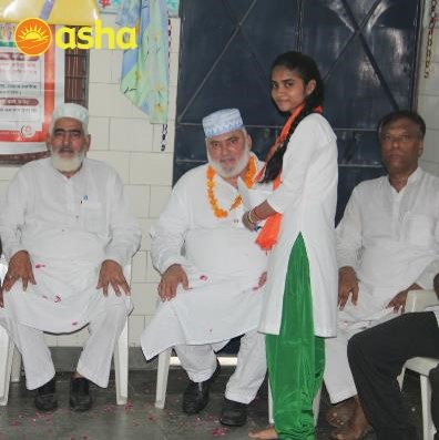 Asha centre at Seelampur invited the MLA Mr Mohammad Ishraque as the chief guest for the programme.