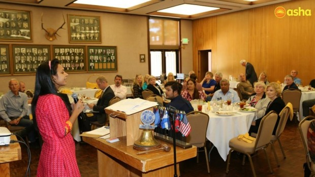 Babita shares her journey at the Kiwanis Club in Napa Valley