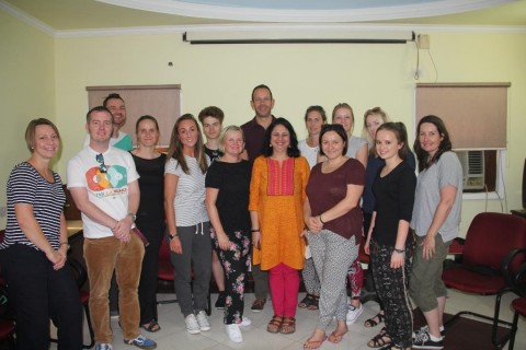 Schools from UK led by David Briggs Visit Asha