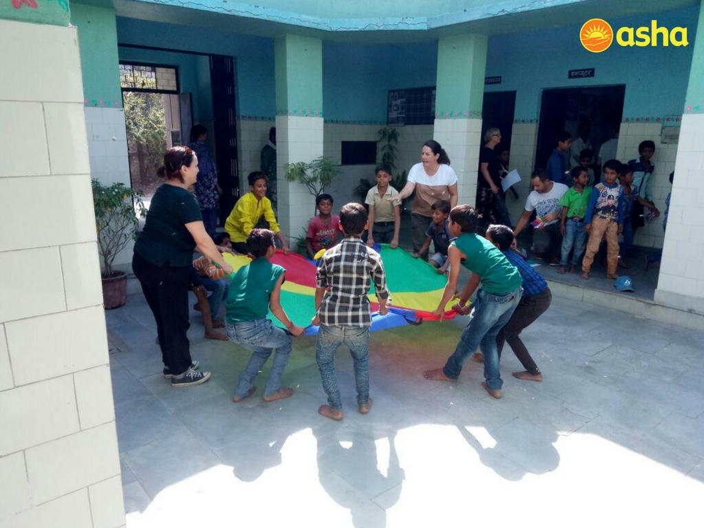 Asha's Children Association at the centre were thrilled to be a part of such educational activities.