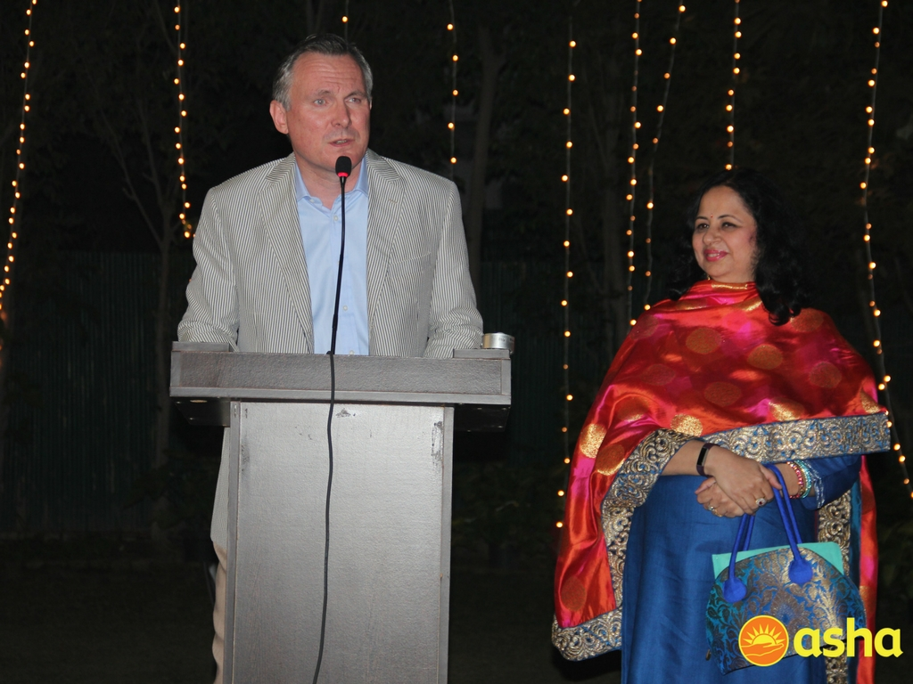The Hon. Irish Ambassador, His Excellency Brian McElduff addressing the gathering.