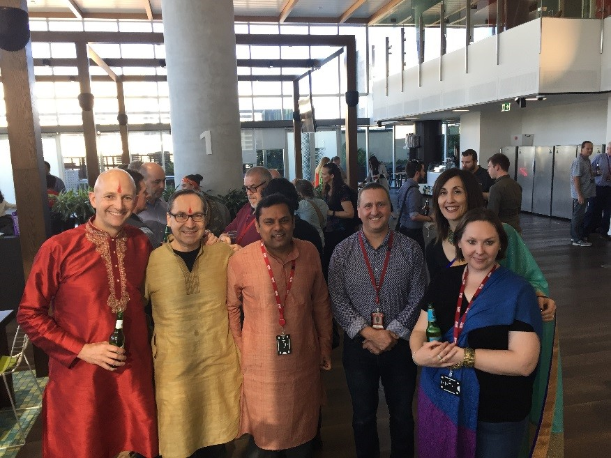 Left to right: Scott Ross, Ian Ziegeler, Prabhakar Mudenagudi, Mark Schultz, Stella Thredgold & Amy Burnell